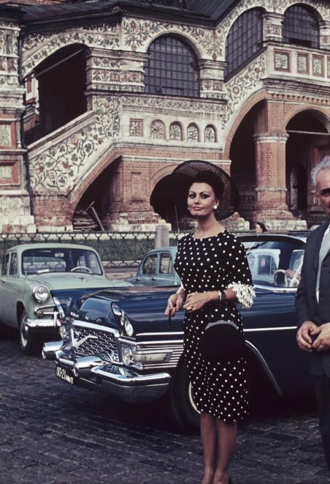 Софи Лорен в Москве в 1965 году.