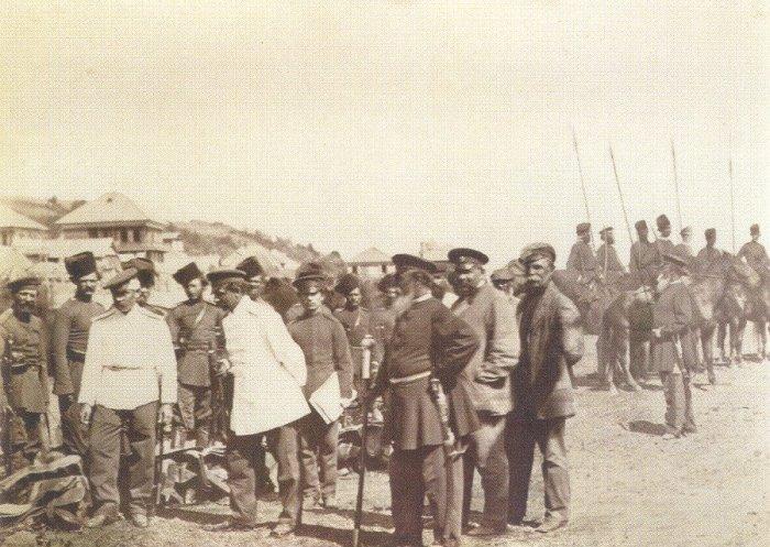 Смотр казаков атаманом. Россия, 1876 год. Фото: Ivan Boldyrev.