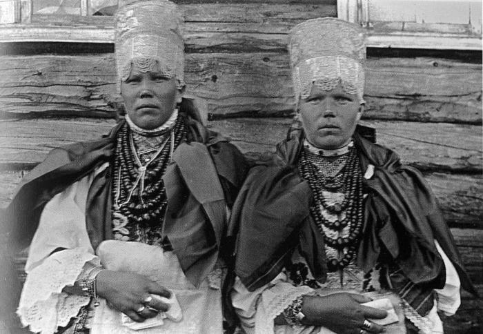 «Повязочницы». Понежский уезд, Архангельская губерния, 1927 год.