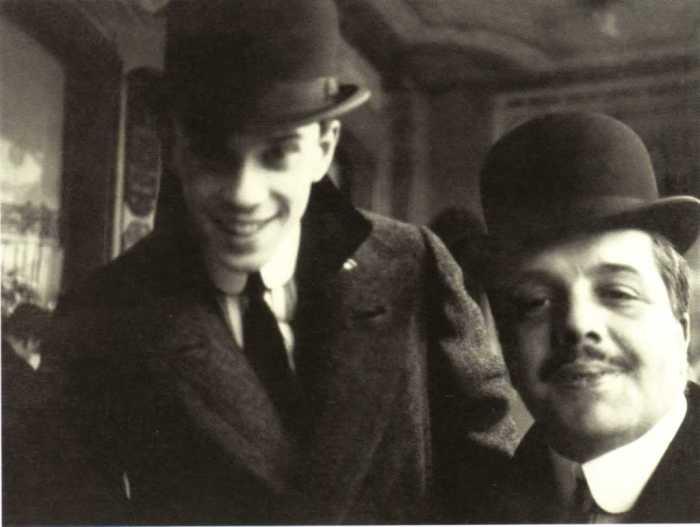 Сергей Дягилев и Вацлав Нижинскии в Ницце в 1911 году. Фото: «А.Боткин».