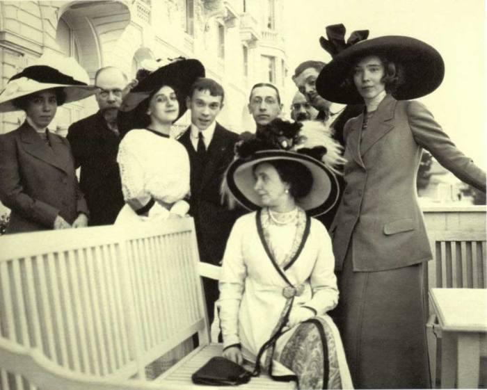 Тамара Карсавина, Вацлав Нижинский, Игорь Стравинский в 1911 году.