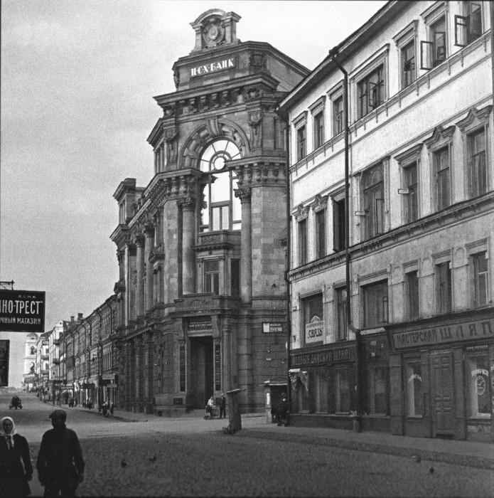 Одна из старейших улиц в Москве. СССР, 1920-е годы.