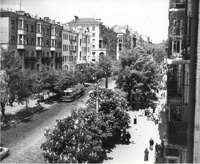 Улица Красноармейская в 1961 году. Фото из Центрального государственного архива кинофотофонодокументов имени Пшеничного.