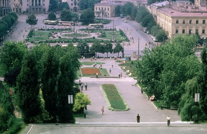 Центральная площадь Киева. СССР, Киев, 1963 год.