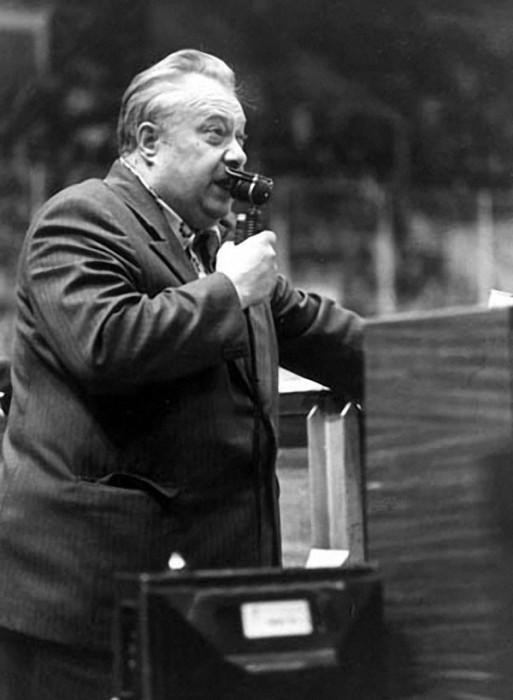 Спортивный комментатор Николай Озеров, 10 ноября 1978 года.