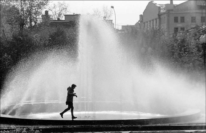 Фонтан в Новопушкинском сквере в 1984 году.