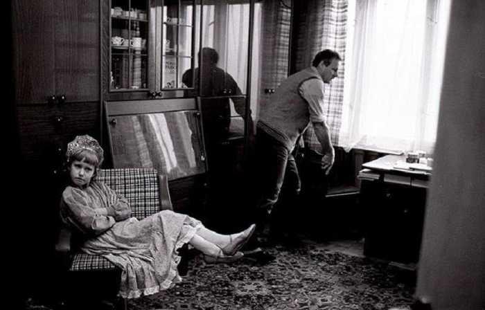 Анатолий Собчак с дочерью Ксенией в 1989 году.