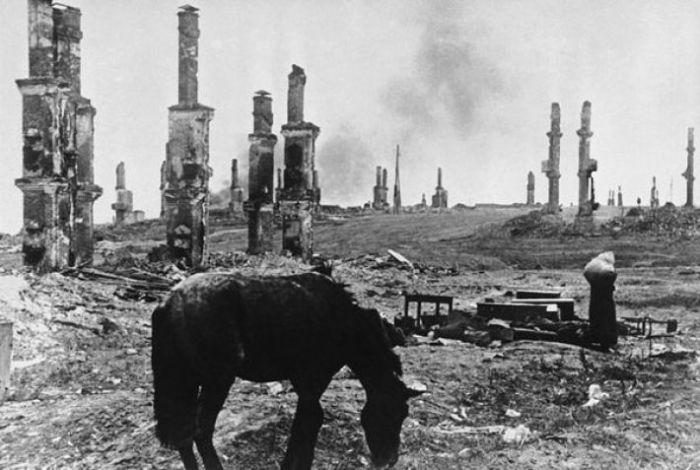 Руины Сталинграда в 1942 году.