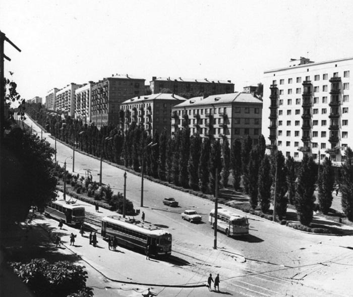 Бульвар Леси Украинки в 1960-е годы. Фото из Центрального государственного архива кинофотофонодокументов имени Пшеничного.