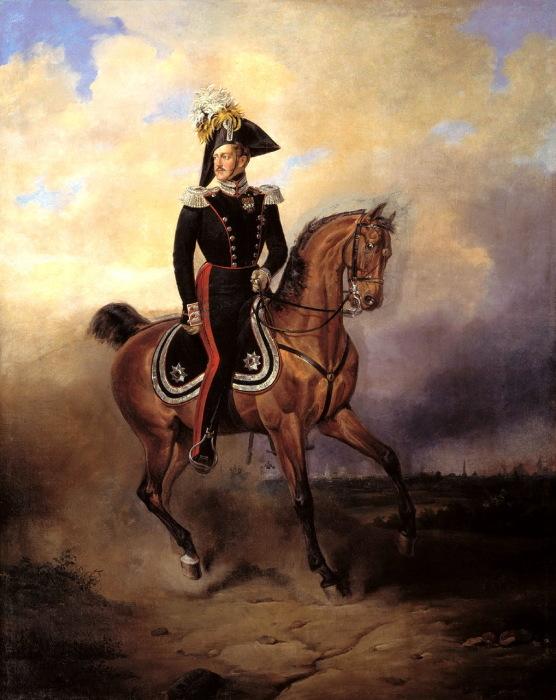 Портрет императора Николая I в 1840 году.