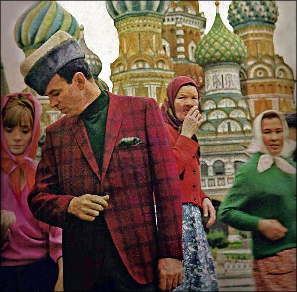 Попытка сделать модную фотографию. СССР, Москва, 1965 год.