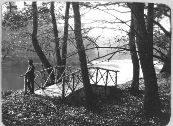 Мост в охотничьем угодье Спала в Польше в 1912 году.
