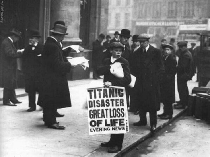 На следующий день после крушения Титаника. Лондон, 16 апреля 1912 года.