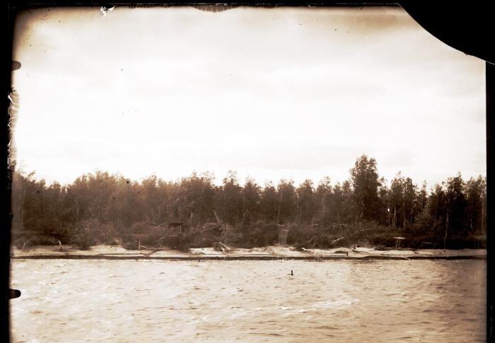 Река Конда перед впадением в Иртыш.