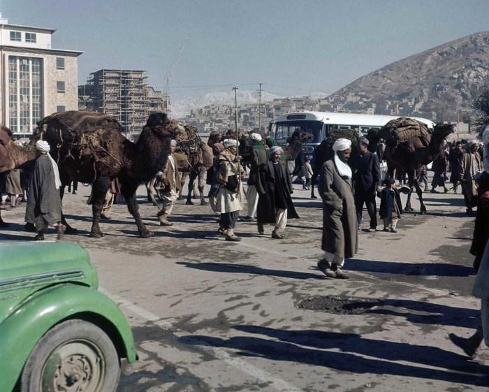 Уличная сцена в Кабуле, ноябрь 1961 года.