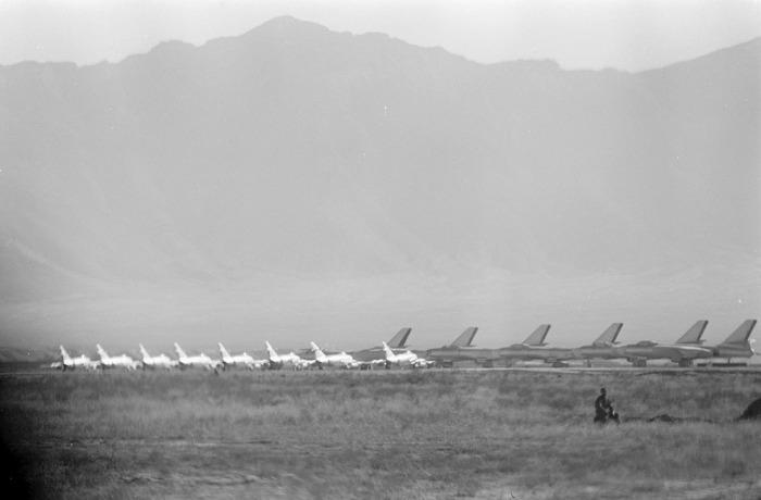 ВВС Афганистана были представлены самолетами МиГ-15 и бомбардировщиками Ил-28.