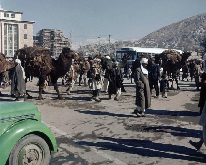 Уличная сцена в Кабуле. Афганистан, ноябрь 1961 года.