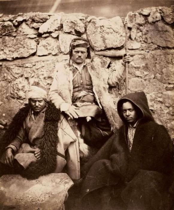 Группа хорватских вождей в 1855 году.