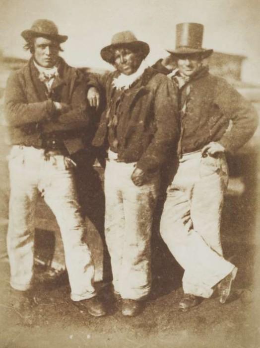 Рыбаки из Ньюхейвен в 1845 году.