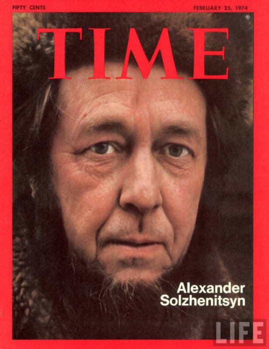 Александр Солженицын на обложке Time в 1974 году.