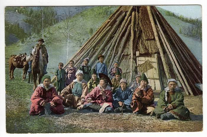 Жители Алтая. 1907-1914 год. Фото: Sergey Borisov.