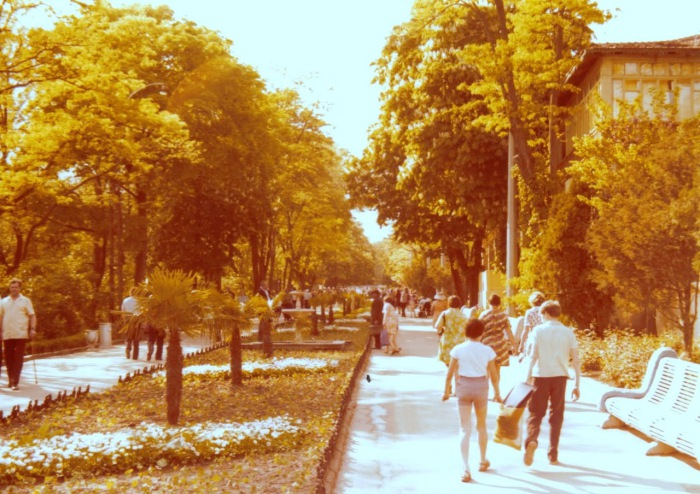 Курортный район Аркадия в городе Одесса. СССР, Одесса, 1976 год.