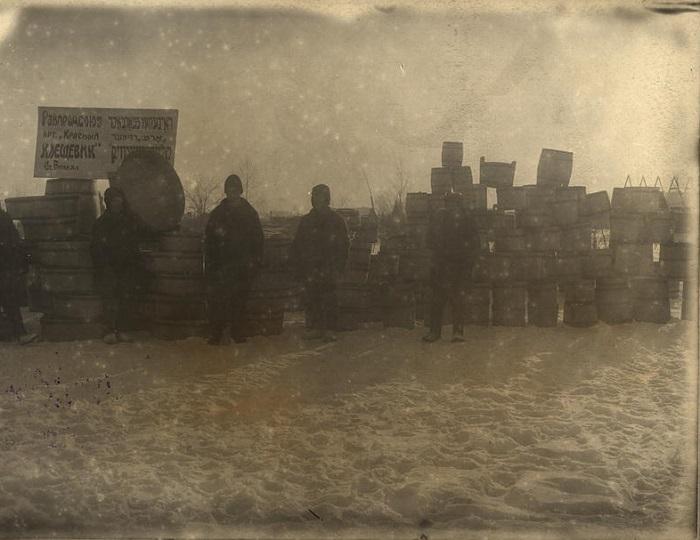Артель Райпотребсоюза Красный клещевик. Станция Биркан, 1933 год.