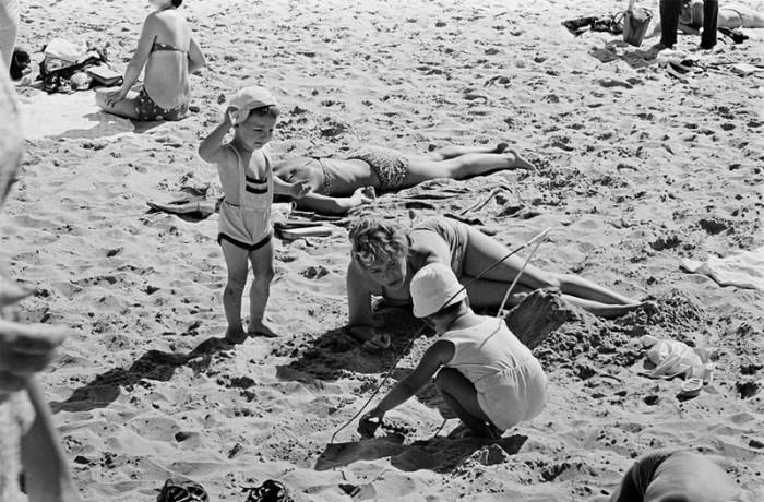Отдых на побережье Балтийского моря с детьми. СССР, Эстония, 1966 год.