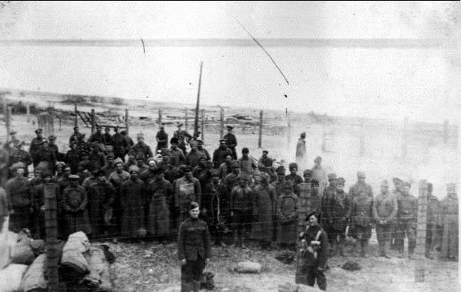 Пленные красноармейцы. Россия, Архангельская область, Березник, 1919 год.