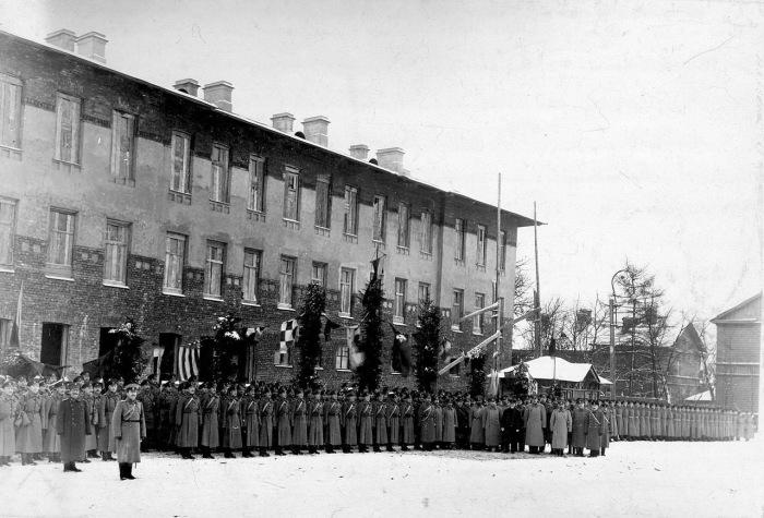 Построение личного состава бригады в 1914 году.