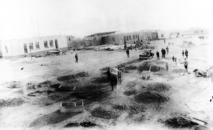 Строительство в Нубарашене. 1930 год.