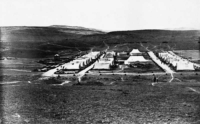 Развернутый лагерь Корниловского ударного полка. Галлиполи, 1921 год.