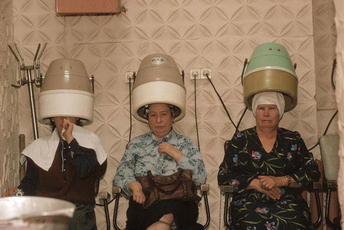 Советский салон красоты. СССР, Черновцы, 1988 год.