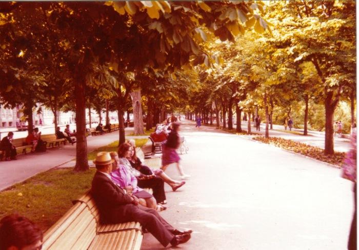 В парке под одесскими каштанами.