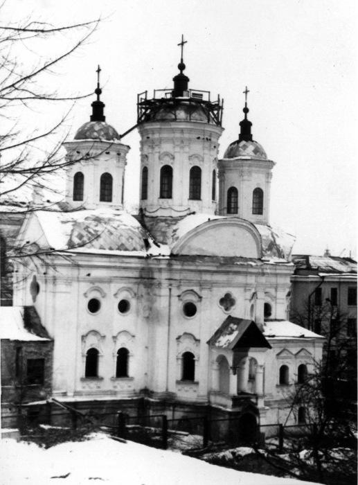 Реставрация куполов Покровской церкви на Подоле. Киев, 1980 год