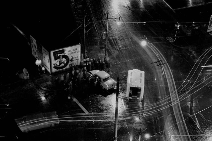 Авария ночью. Лондон, Кларкенуэлл, 1959 год.