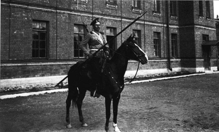 Казак лейб-гвардии Казачьего полка на коне. Россия, 1907 год.