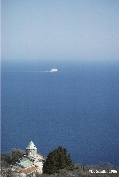 Морской пейзаж. Крым, Ялта, 1988 год.