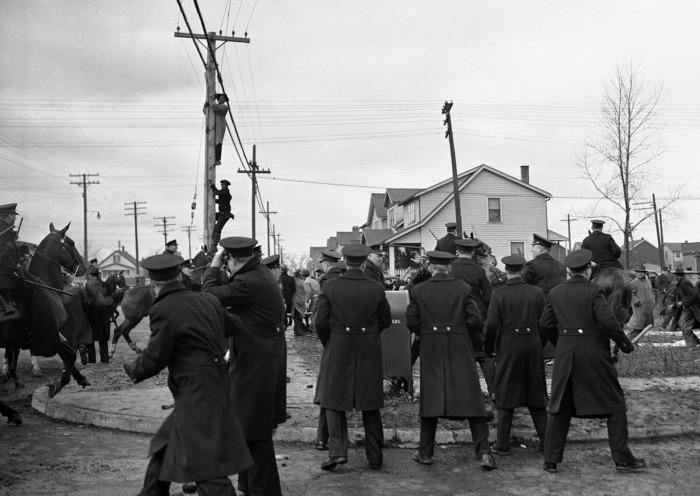 Стычки с пикетчиками 28 февраля 1942 года.