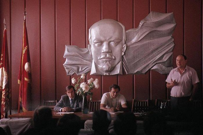 Партийное собрание шахты имени Засядько. СССР, Донецк, 1988 год.