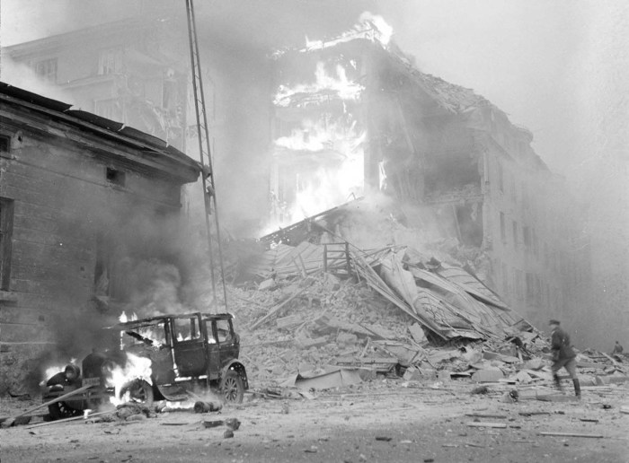 Бомбардировка Хельсинки советскими самолетами, 30 ноября 1939.