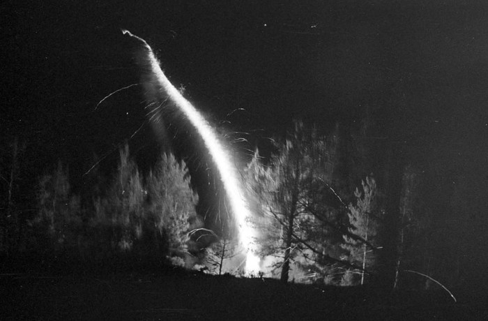 Ракета, запущенная из леса.