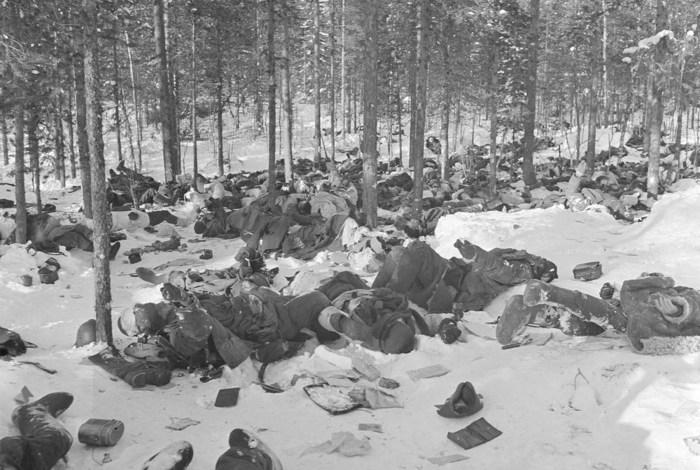 Погибшие в бою солдаты, 1 февраля 1940 год.