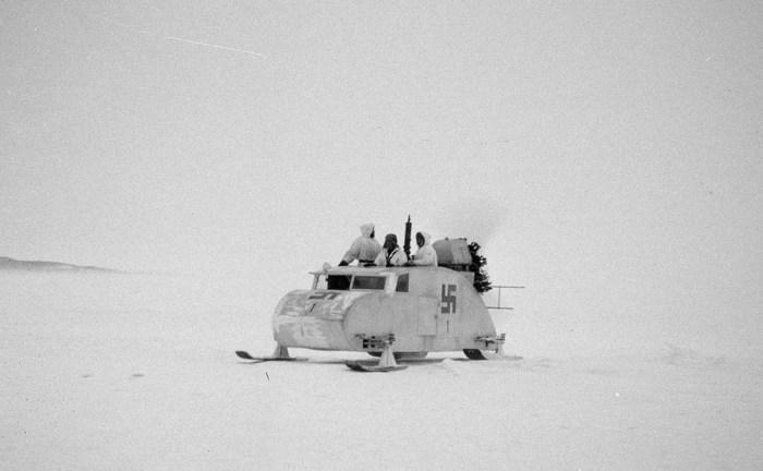 Винтовой снегоход. Финляндия, Хаапасаари, 1 июля 1942 год.