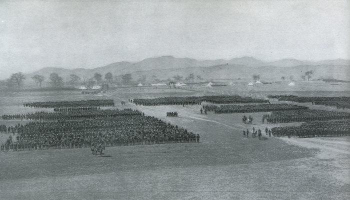 Дивизии 1-й японской армии, построенные после сражения под Мукденом.