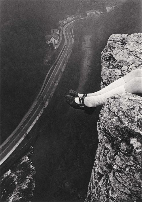 Над утёсом Хай-Тор. Мэтлок, 1975 год.