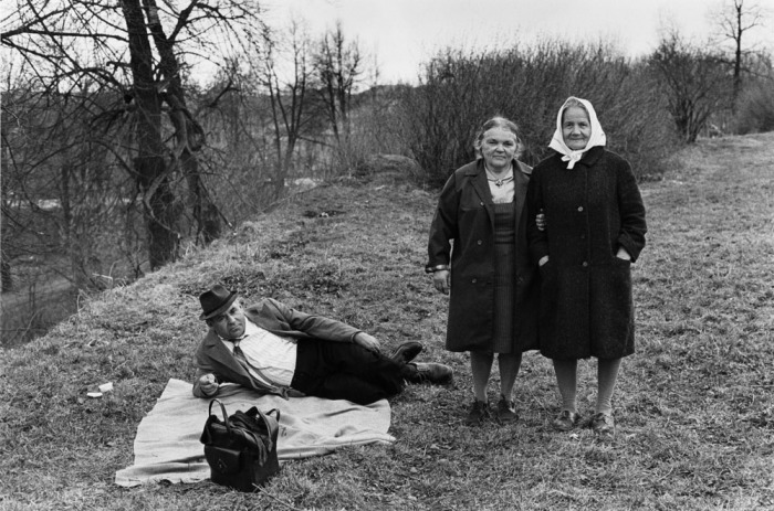 Пикник на природе. СССР, Москва, 1970-е годы.