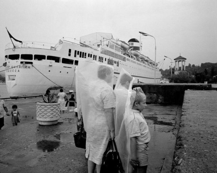 Пассажирский теплоход «Фёдор Шаляпин». СССР, Сочи, 1988 год.