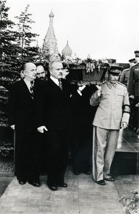 Похороны Михаила Калинина. Город Москва 1946 год.