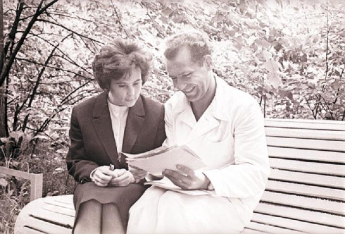 Г.С. Титов с супругой Тамарой Васильевной. 1960 год.